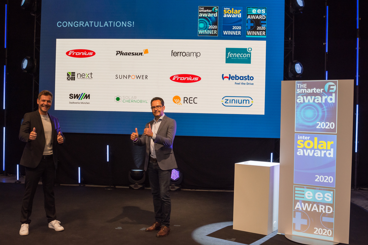 The smarter E AWARD, Intersolar AWARD und ees AWARD winners 2020